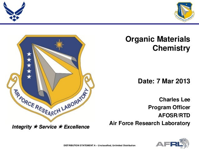Lee - Organic Materials Chemistry - Spring Review 2013