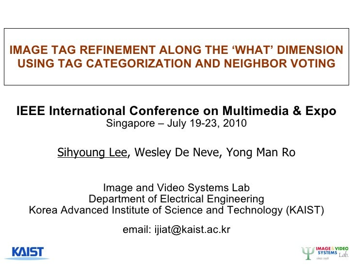 Image Tag Refinement Along the 'What' Dimension using Tag Categorization and Neighbor Voting