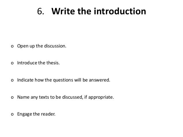 Steps to writing an essay introduction