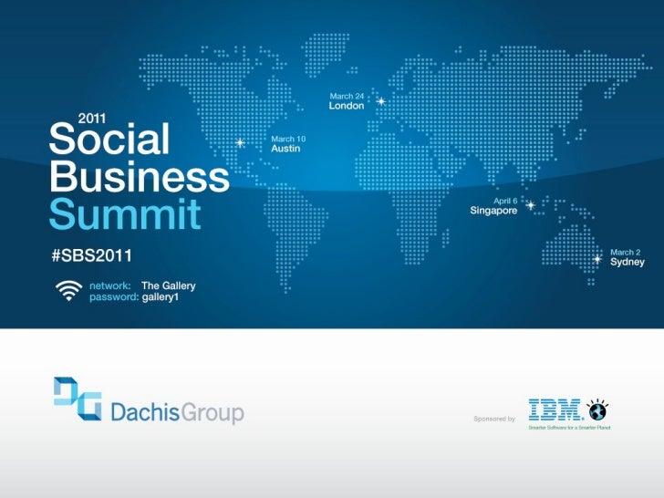 2011 London SBS | Lee Bryant, Social Business Intelligence