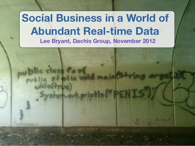 Social Business in a World of Abundant Real-time Data   Lee Bryant, Dachis Group, November 2012