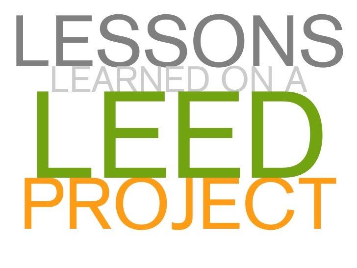 LEED Project Case Studies