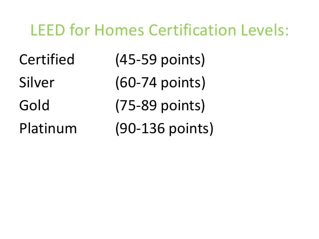 Leed for homes for Leed for homes rating system
