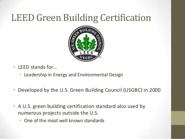 leed certified projects