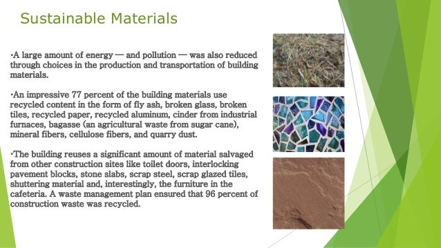 Sustainable Materials •a Large