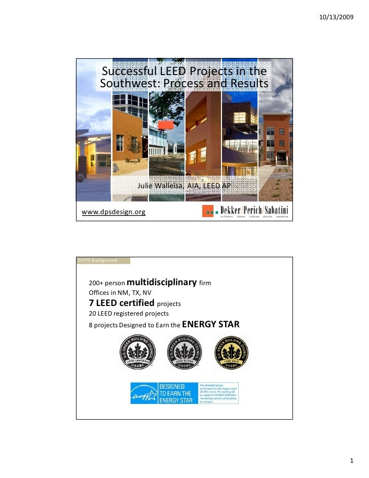 Successful LEED Projects in the Southwest