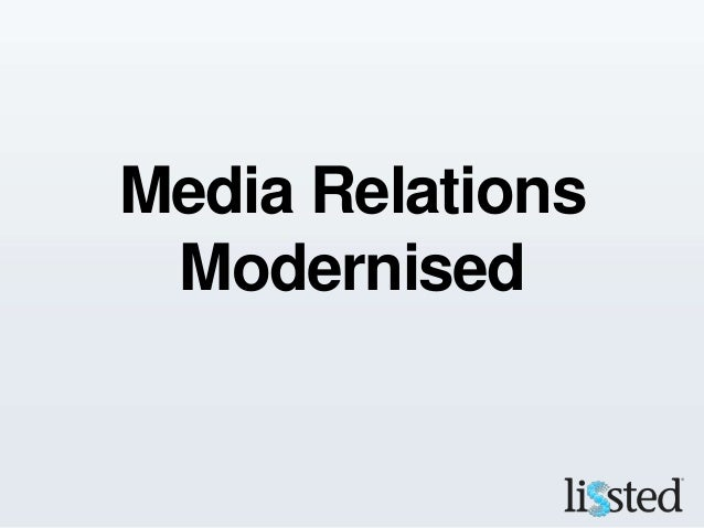 Media Relations Modernised