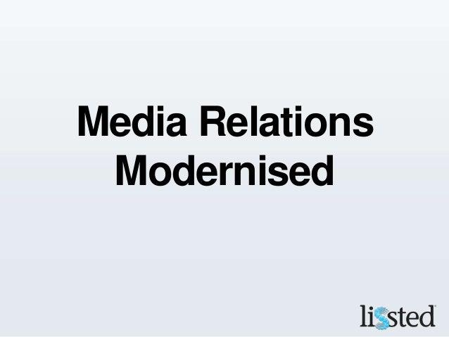 Media Relations Modernised