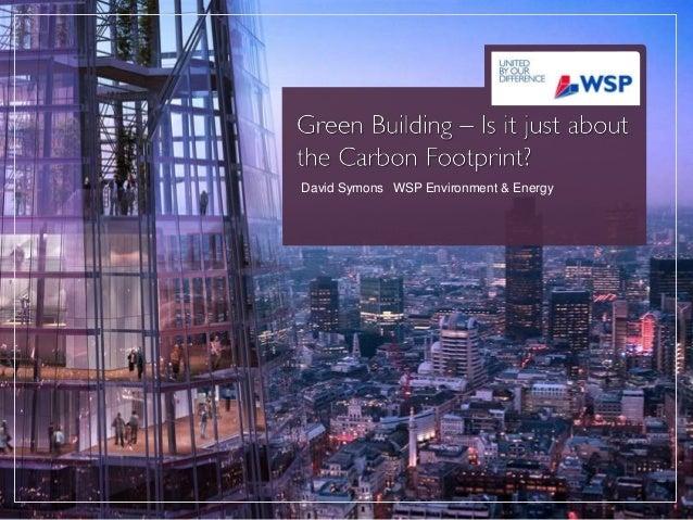 David Symons WSP Environment & Energy