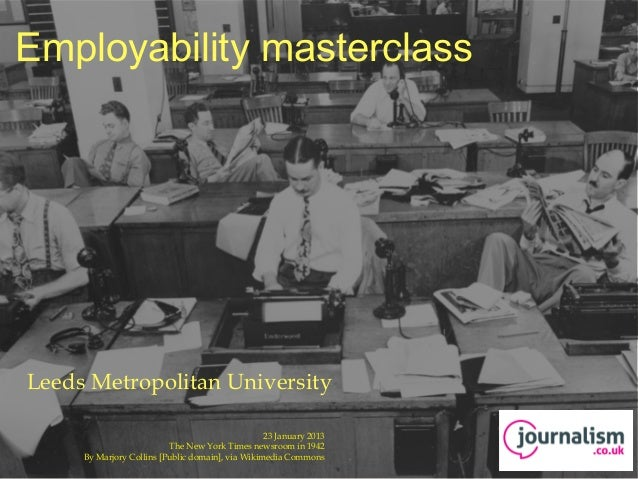 Journalism employability presentation