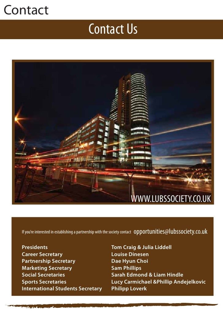 Leeds University Business School Society Partnership Proposal
