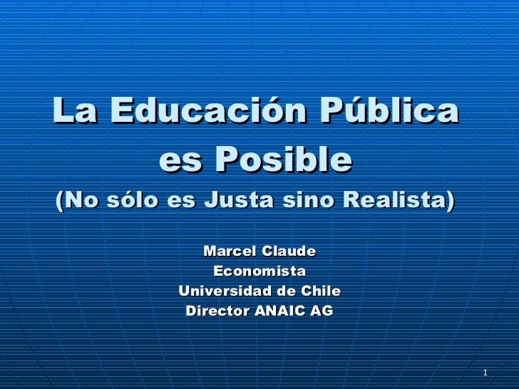 La educación pública es posible