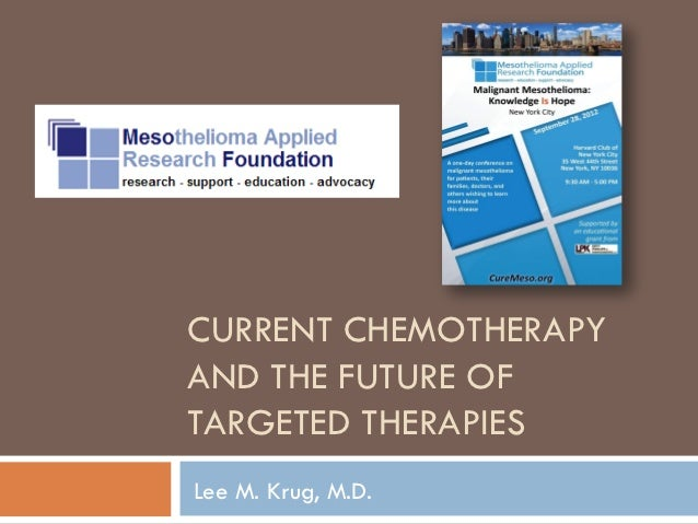 CURRENT CHEMOTHERAPYAND THE FUTURE OFTARGETED THERAPIESLee M. Krug, M.D.