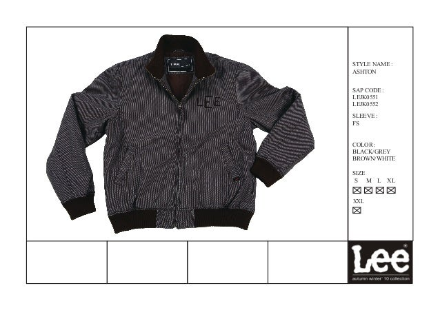 Lee mens jackets aw-2010