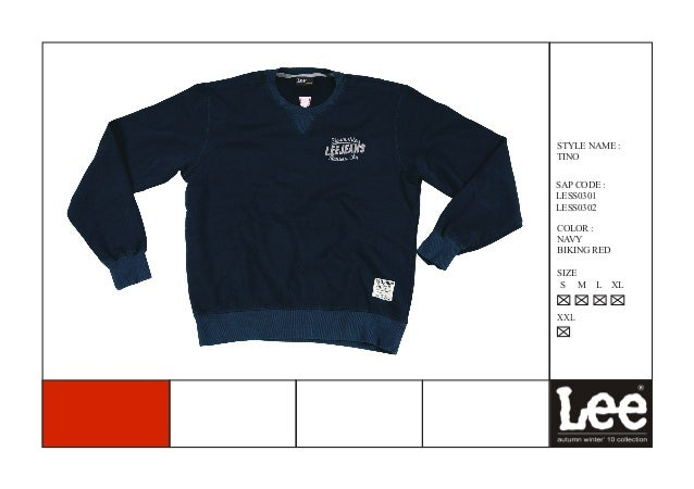 STYLE NAME :TINOSAP CODE :LESS0301LESS0302COLOR :NAVYBIKING REDSIZE S M    L    XLXXL