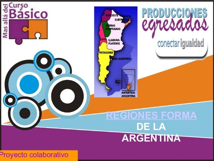 REGIONES FORMALES  DE LA ARGENTINA Proyecto colaborativo
