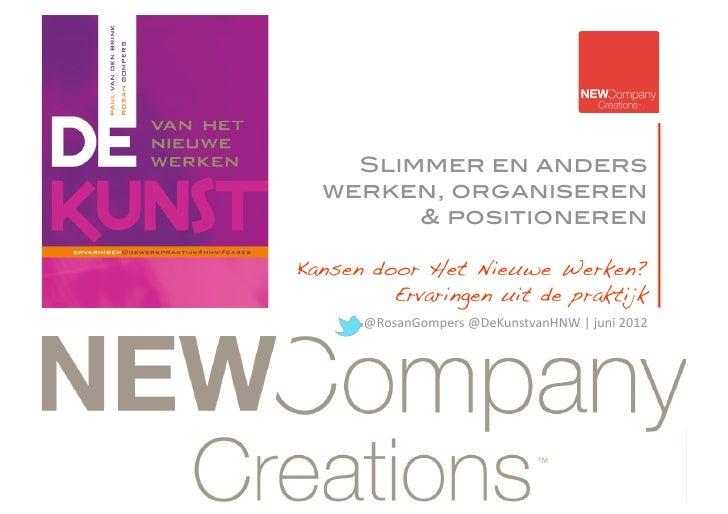 Leerervaringen De Kunst van HNW NewCompanyCreations juni 2012