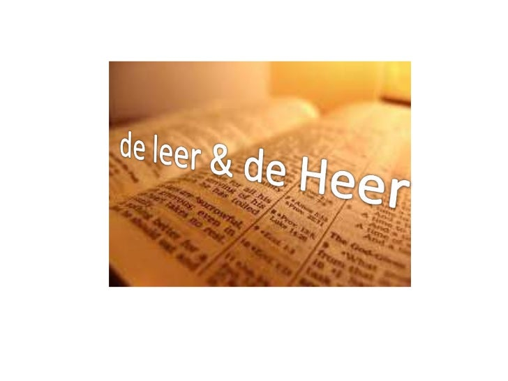 de leer & de Heer<br />