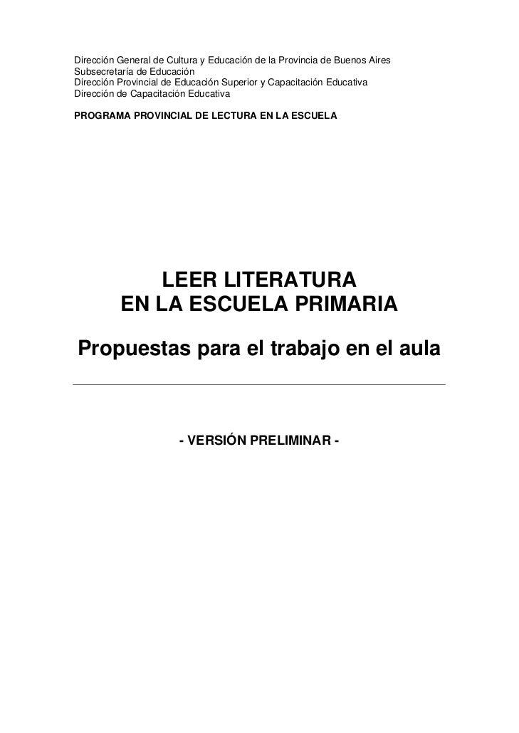 Dirección General de Cultura y Educación de la Provincia de Buenos AiresSubsecretaría de EducaciónDirección Provincial de ...