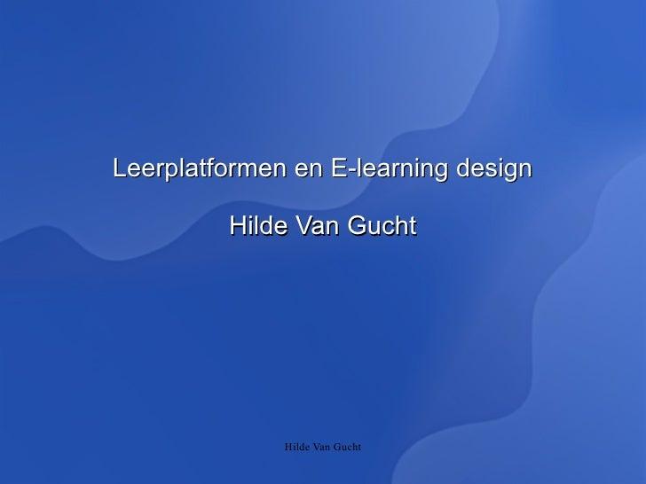 Leerplatformen en e learning design