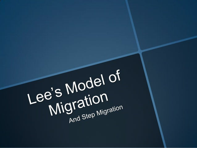 Lee's model and step migration