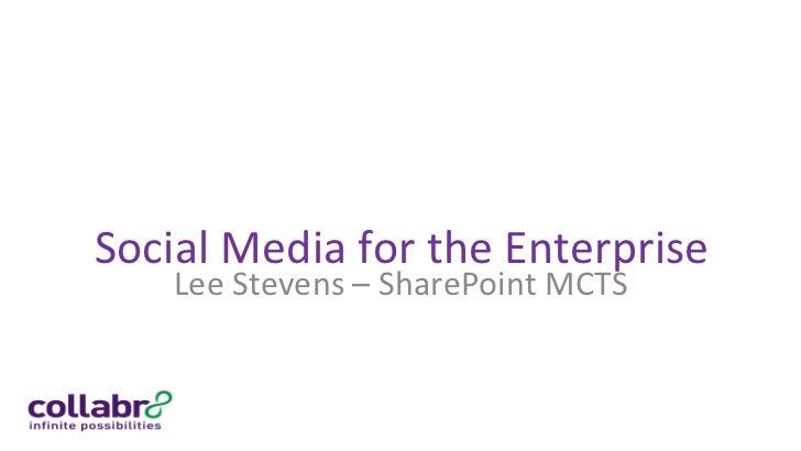 Lee Stevens   sharepoint 2010