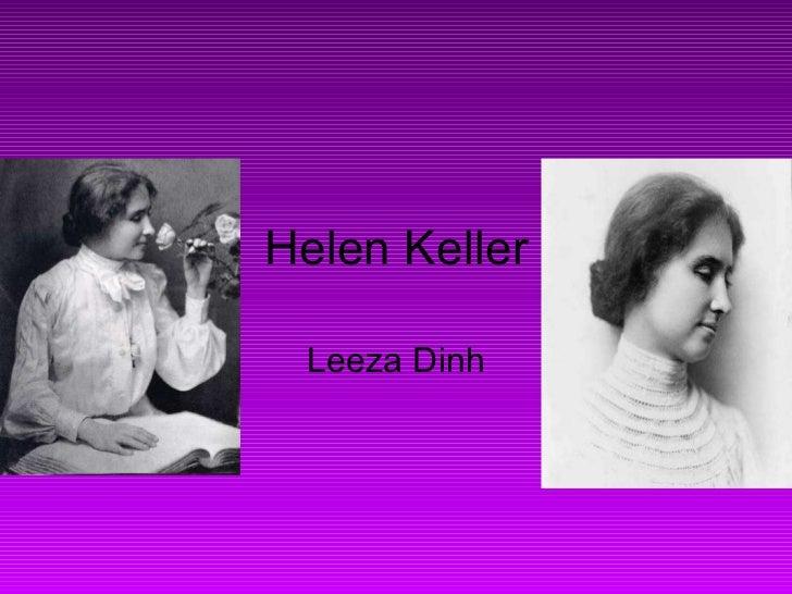 Helen Keller Leeza Dinh