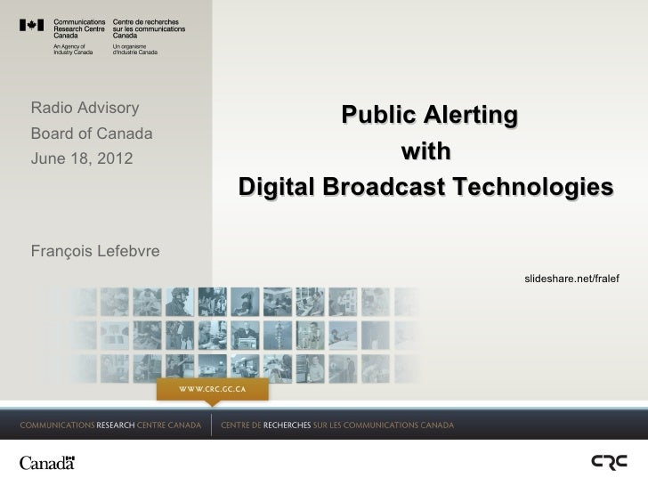 Public Alerting with Digital Broadcast Technologies