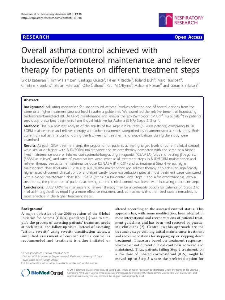 Bateman et al. Respiratory Research 2011, 12:38http://respiratory-research.com/content/12/1/38 RESEARCH                   ...