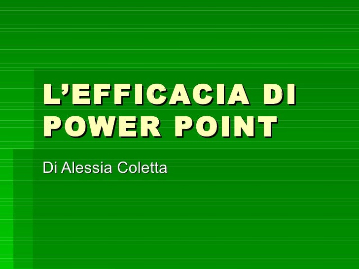 L'efficacia di power point