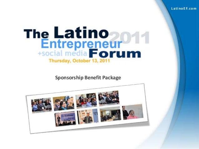 LatinoEF.com Sponsorship Benefit Package