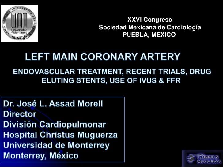 Left main coronary artery