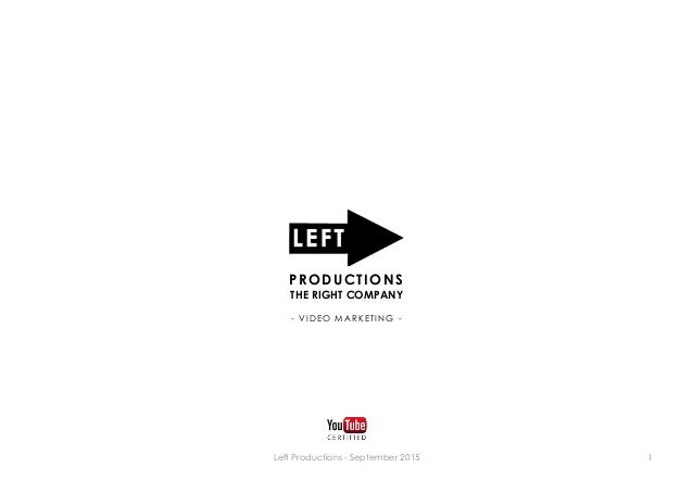 1 PRODUCTIONS THE RIGHT COMPANY - VIDEO MARKETING - Left Productions - September 2015