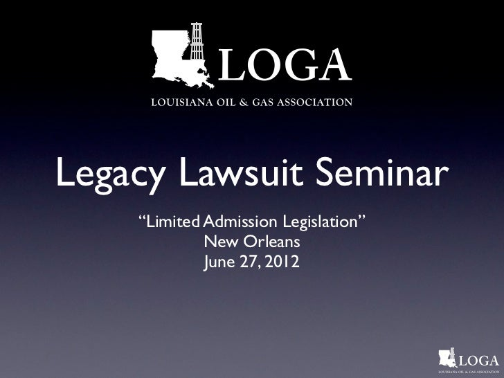 Legacy lawsuit seminar