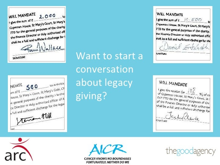 Want to start a conversation about legacy giving?