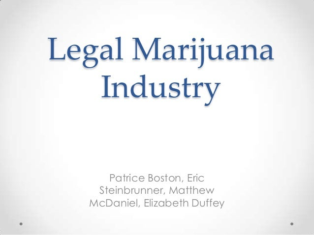 Legal Marijuana Industry Patrice Boston, Eric Steinbrunner, Matthew McDaniel, Elizabeth Duffey