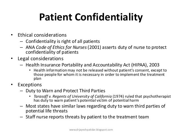confidentiality in nursing The importance of confidentiality in nursing practice this essay will discuss why confidentiality is important within nursing practice and the reasons.