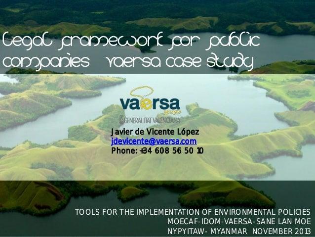 Legal framework for environmental public companies
