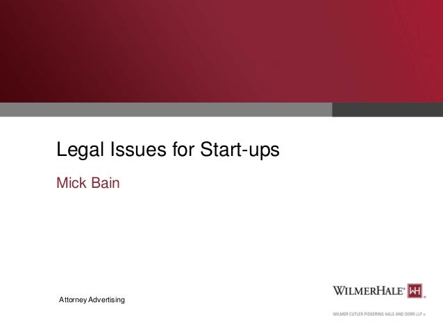 Legal Issues for Startups