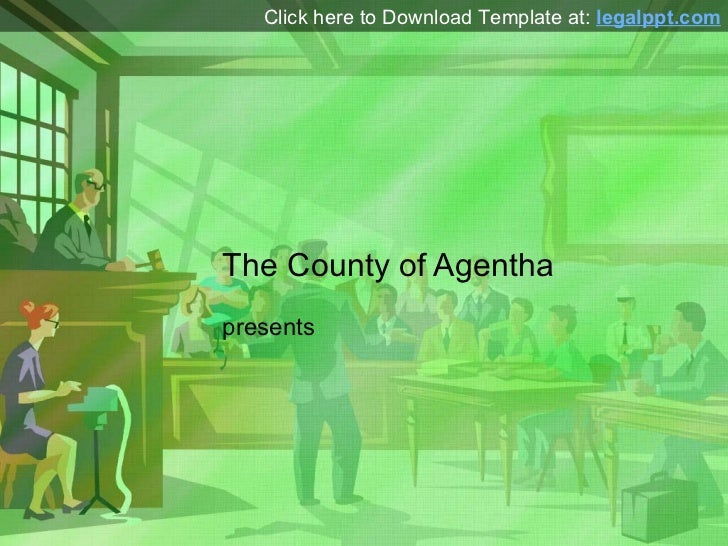 Courtroom PowerPoint Presentation Template
