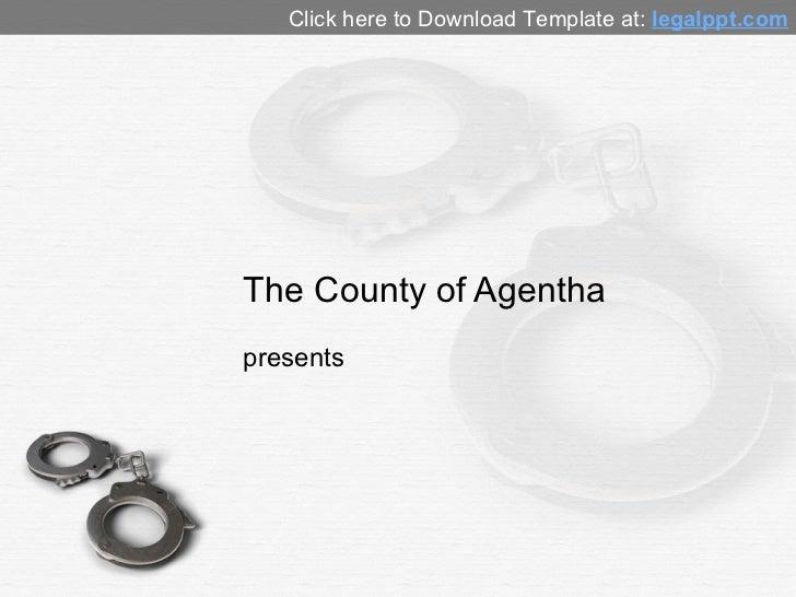 Handcuffs PowerPoint Background