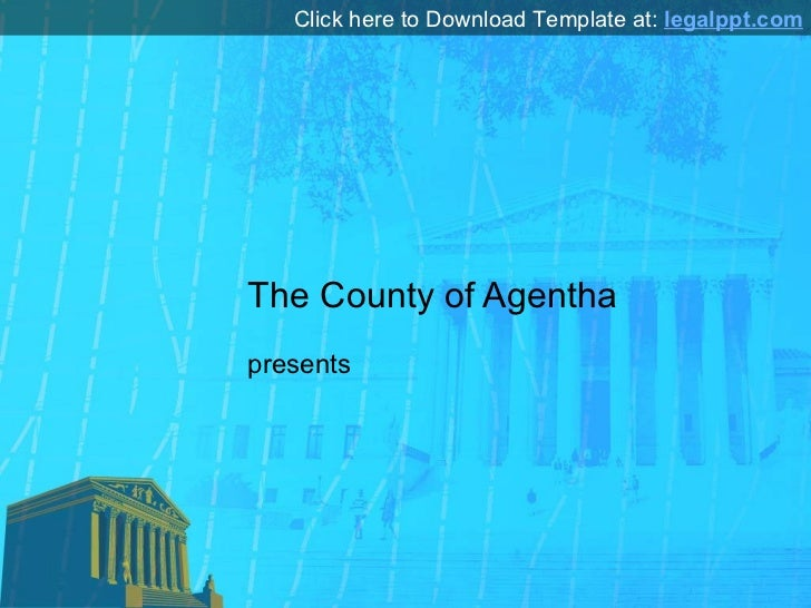 Court Template for PowerPoint Presentation