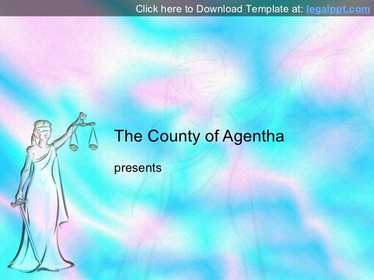 Justitia PPT Template for PowerPoint Presentation
