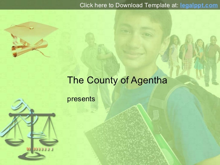 Education Law PowerPoint Presentation Template