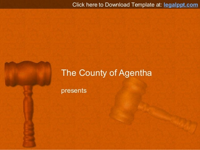 Free PowerPoint template Background - Gavel