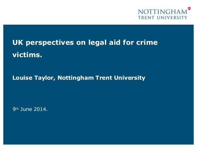 UK perspectives on legal aid for crime victims