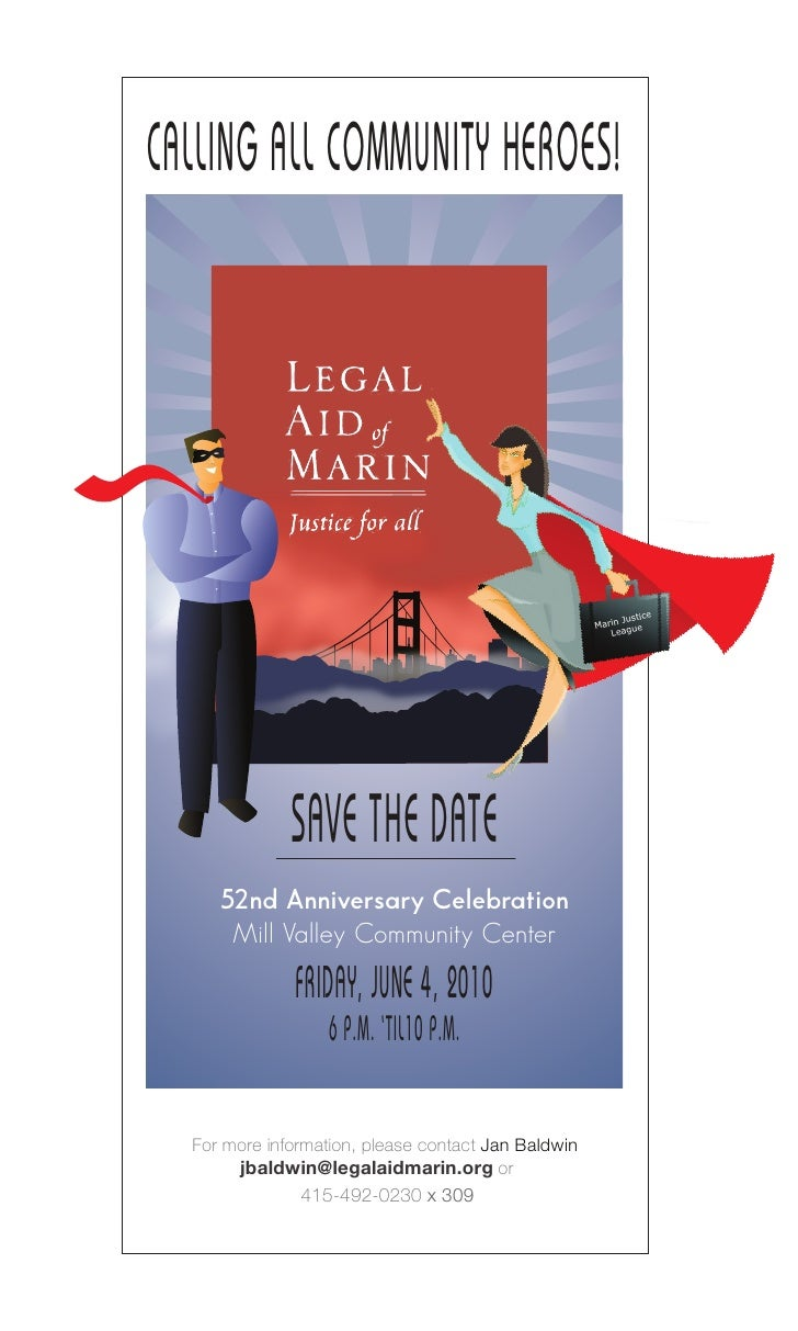 Legal Aid Of Marin Save The Date 2010
