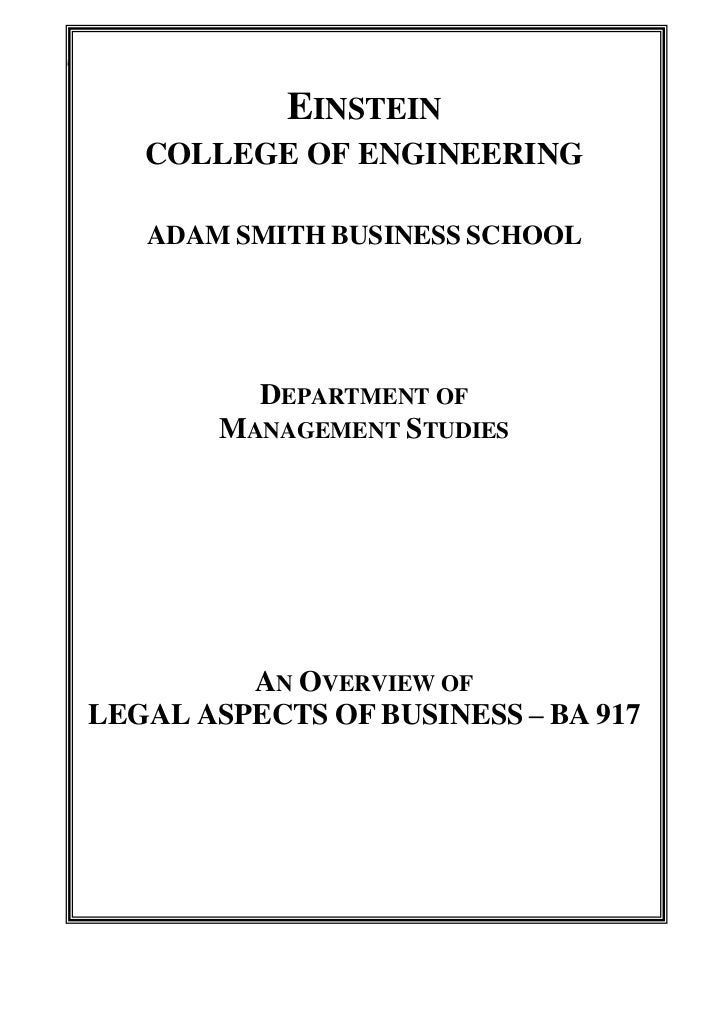 Legal aspects of business master notes