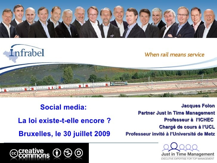 Jacques Folon Partner Just In Time Management Professeur à  l'ICHEC  Chargé de cours à l'UCL Professeur invité à l'Univers...
