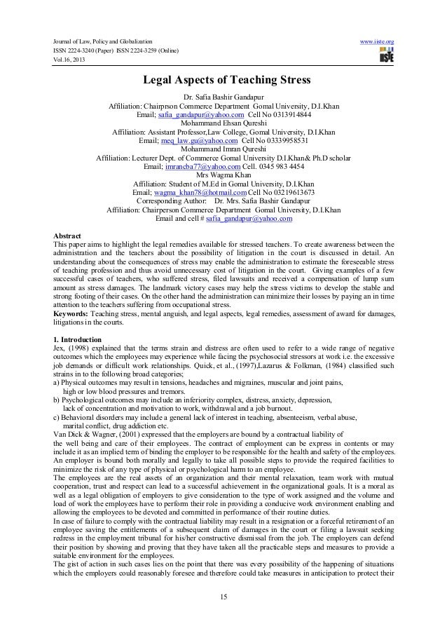 Journal of Law, Policy and Globalization www.iiste.org ISSN 2224-3240 (Paper) ISSN 2224-3259 (Online) Vol.16, 2013 15 Lega...
